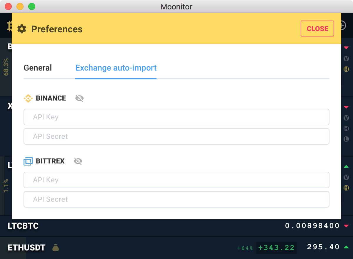 Exchanges API key read-only support